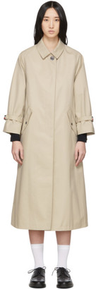 Thom Browne Khaki Unconstructed Trench Coat