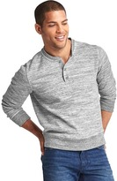 Gap Supersoft double-knit space dye henley