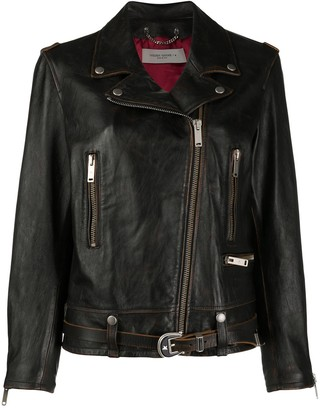 Golden Goose Raw Leather Biker Jacket
