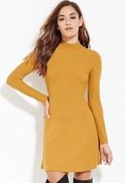 Forever 21 Ribbed High-Neck Dress