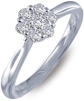 Lafonn Micro Pave Simulated Diamond Sterling Silver Engagement Ring - 0.26 ctw