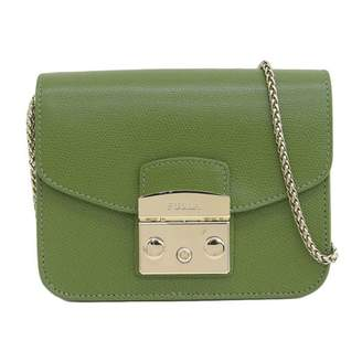 Furla Metropolis Green Leather Handbags