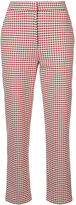 Brock Collection gingham cropped trousers