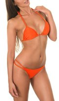 TopTie Bikini - Push Up Triangle Top and Strappy Botto