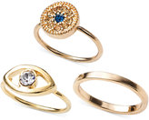 Rachel Roy Gold-Tone Evil Eye Midi Ring Set