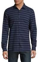Strellson Stripe Cotton Casual Button-Down Shirt