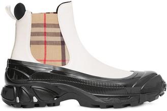 Burberry Vintage Check detail chelsea boots