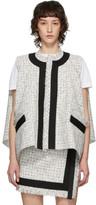 Sacai White Wool Summer Tweed Vest