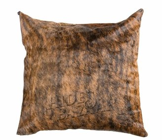 "Millwood Pines Rizzuto Leather/Suede Throw Pillow Cover Size: 16"" x 16"""