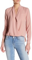 Lovers + Friends Long Sleeve Hi-Lo Blouse