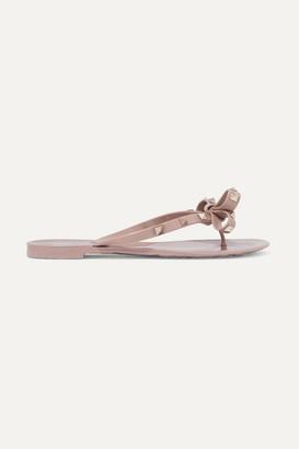 Valentino Garavani The Rockstud Rubber Sandals - Antique rose