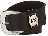 Michael Kors Leather Logo Keeper Belt