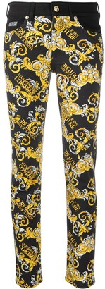 Versace Jeans Couture Logo-Print Skinny Jeans
