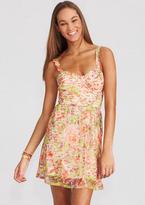 Delia's Peach Floral Lace Dress
