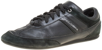 Dolce & Gabbana Black Suede and Leather Low Top Sneakers Size 41.5