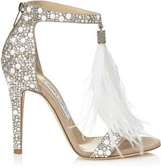 Jimmy Choo Viola 110 Crystal Sandals