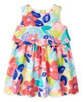 Gymboree 2-Piece Watercolor Floral Dress and Diaper Cover Set