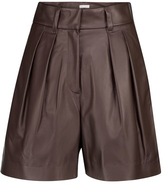 Brunello Cucinelli Leather Bermuda shorts