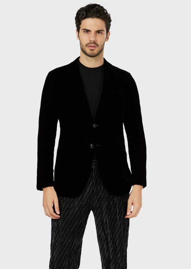 Giorgio Armani Single-Breasted Velvet Jacket