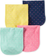 Carter's 4-Pk. Dot-Print Cotton Burp Cloths, Baby Girls