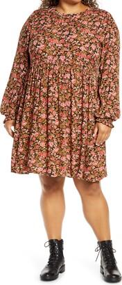 BP Frill Cuff Long Sleeve Dress