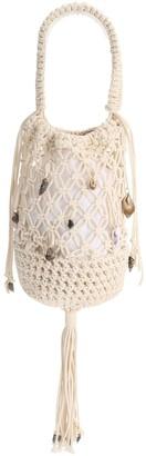 Marine Serre Cotton Crochet Tote Bag