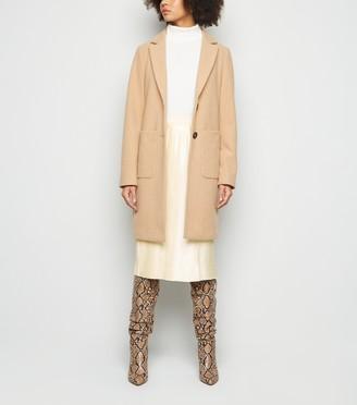 New Look NA-KD Satin Pleated Midi Skirt