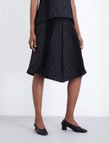 Issey Miyake Soft Leaf silk-blend skirt