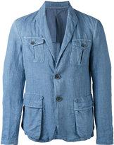 Giorgio Armani two-button blazer - men - Cotton/Linen/Flax/Cupro - 50