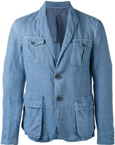 Giorgio Armani two-button blazer - men - Cotton/Linen/Flax/Cupro - 54