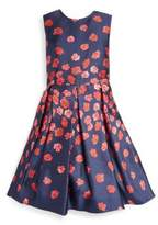 Oscar de la Renta Toddler's, Little Girl's & Girl's Pleated Roundneck Dress