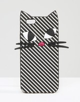 Lulu Guinness Stripe Kooky Cat iPhone 6/6s Case
