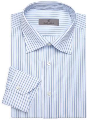 Canali Tonal Stripe Dress Shirt