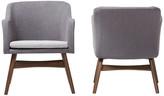 Baxton Studio Vera Two-Tone Gray Fabric Lounge Chair, Set of 2