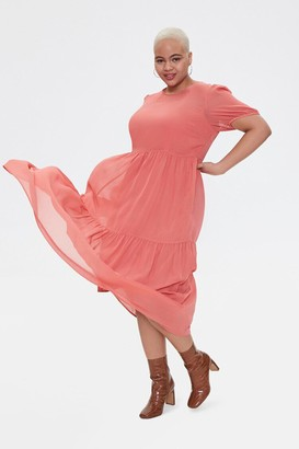 Forever 21 Plus Size Tiered Midi Dress