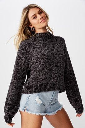 Supre Vera Chenille Mock Neck Sweater