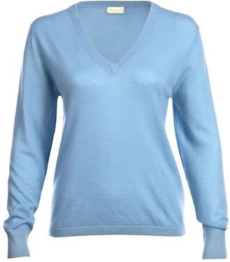 Asneh Blue Mathilda V-neck Cashmere Sweater