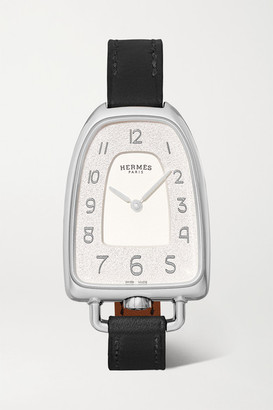 HERMÈS TIMEPIECES Galop D'hermes 26mm Medium Stainless Steel And Leather Watch - Silver