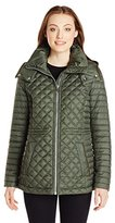 Andrew Marc Women's Lightweight Quilted Jacket with Hood