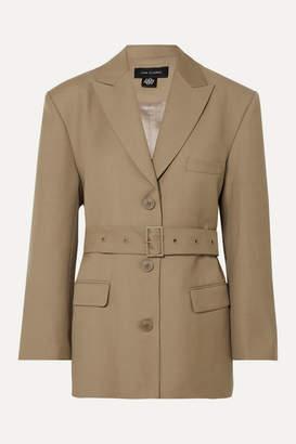 Low Classic Belted Wool-blend Blazer - Beige
