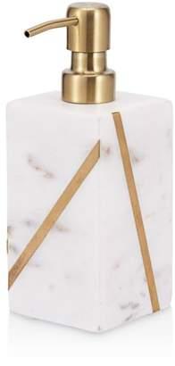Kassatex Marble Brass Lotion Dispenser