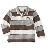 Chicco Boys' Grey Striped Polo Shirt.