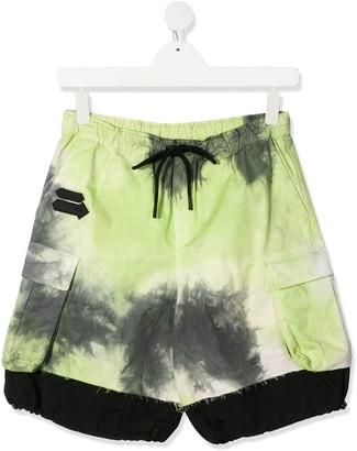 Cinzia Araia Kids TEEN tie-dye shorts
