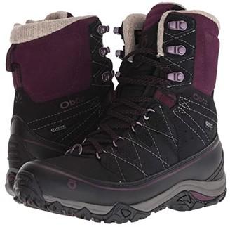 Oboz Juniper 8 Insulated BDRY (Eclipse Black/Beet) Women's Shoes