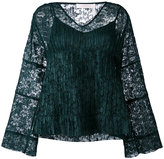 See by Chloe lace layered bell top - women - Polyester - 40