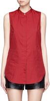 3.1 Phillip Lim Knot back stripe cotton-silk sleeveless top