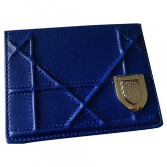 Christian Dior Diorama Blue Leather Purses, wallets & cases