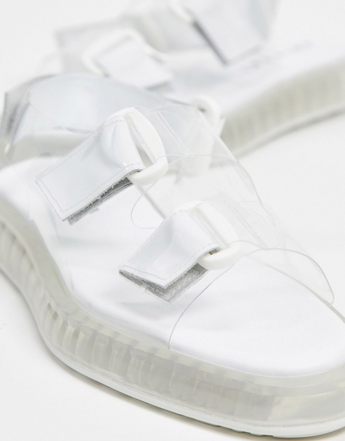 Thumbnail for your product : Joshua Sanders sandal with transparent sole in clear