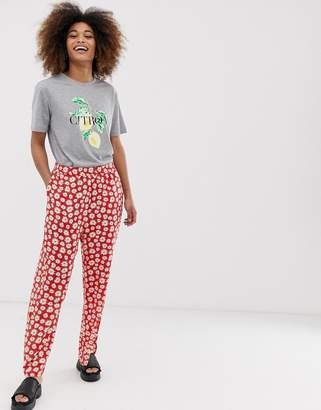 Monki floral pants-Multi