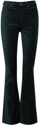 Citizens of Humanity Georgia green bootcut stretch-velvet jeans